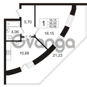 Продается квартира 1-ком 42.96 м² Арсенальная улица 7, метро Девяткино