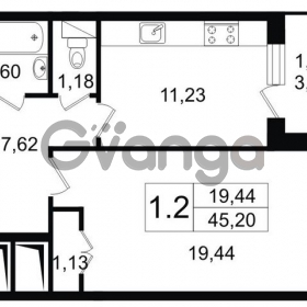 Продается квартира 1-ком 46 м² Арсенальная улица 7, метро Девяткино