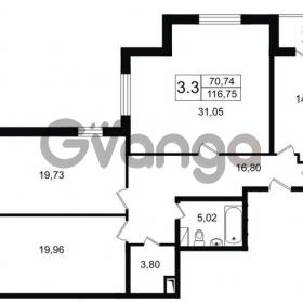 Продается квартира 3-ком 117 м² Парковая 44, метро Московская