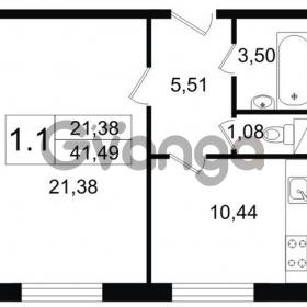 Продается квартира 1-ком 41 м² Парковая 44, метро Московская