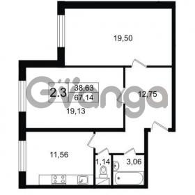 Продается квартира 2-ком 67 м² Парковая 44, метро Московская