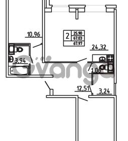 Продается квартира 2-ком 67.97 м² Арсенальная улица 7, метро Девяткино