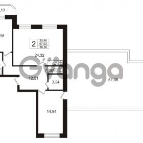Продается квартира 2-ком 86.3 м² Арсенальная улица 7, метро Девяткино