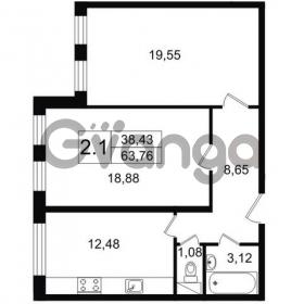 Продается квартира 2-ком 63 м² Парковая 44, метро Московская