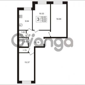 Продается квартира 3-ком 78.29 м² Арсенальная улица 5, метро Девяткино