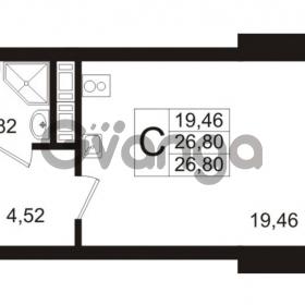 Продается квартира 1-ком 26.8 м² Арсенальная улица 7, метро Девяткино