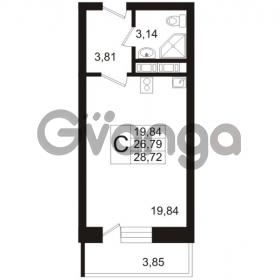 Продается квартира 1-ком 28.72 м² Арсенальная улица 7, метро Девяткино