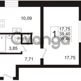 Продается квартира 1-ком 39.4 м² Арсенальная улица 7, метро Девяткино