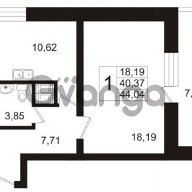 Продается квартира 1-ком 44.04 м² Арсенальная улица 7, метро Девяткино