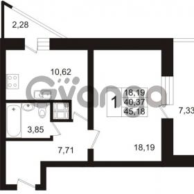 Продается квартира 1-ком 45.18 м² Арсенальная улица 7, метро Девяткино
