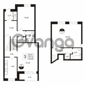 Продается квартира 3-ком 123 м² улица Сургина 14А, метро Старая деревня