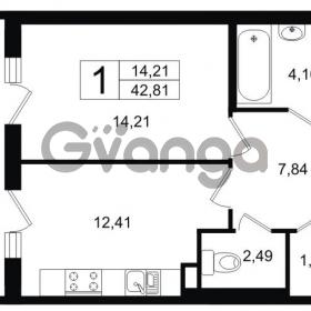 Продается квартира 1-ком 42.8 м² Липовая аллея 15, метро Старая деревня