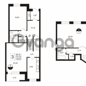 Продается квартира 3-ком 128 м² улица Сургина 14А, метро Старая деревня