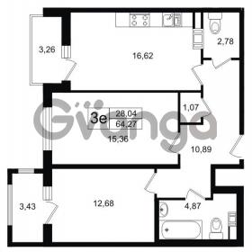 Продается квартира 2-ком 64.3 м² Липовая аллея 15, метро Старая деревня