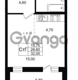 Продается квартира 1-ком 32 м² Ольгинская дорога 4, метро Парнас