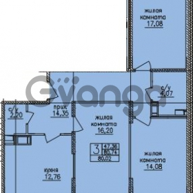 Продается квартира 3-ком 82 м² улица Шкапина 36, метро Балтийская