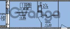 Продается квартира 1-ком 33 м² улица Шкапина 36, метро Балтийская