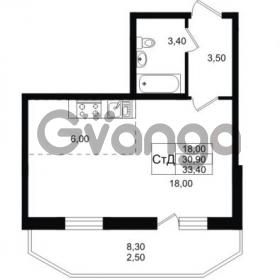 Продается квартира 1-ком 33.4 м² Ольгинская дорога 4, метро Парнас