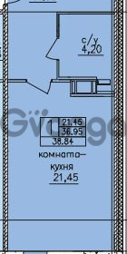 Продается квартира 1-ком 38 м² улица Шкапина 36, метро Балтийская