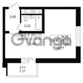 Продается квартира 1-ком 31 м² Заречная улица 1, метро Парнас