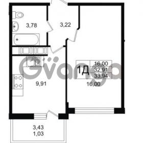 Продается квартира 1-ком 33 м² Заречная улица 1, метро Парнас
