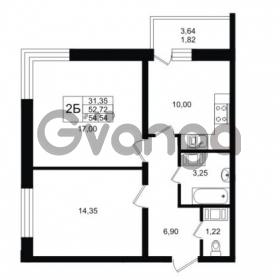 Продается квартира 2-ком 54 м² Заречная улица 1, метро Парнас