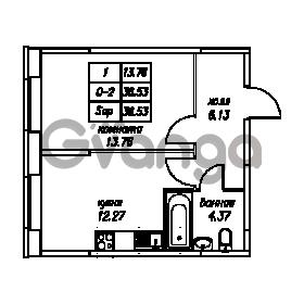 Продается квартира 1-ком 36.53 м² Юнтоловский проспект 53к 4, метро Старая деревня