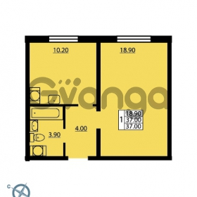 Продается квартира 1-ком 37 м² Южное шоссе 114, метро Международная