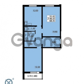 Продается квартира 2-ком 68 м² Южное шоссе 110, метро Международная