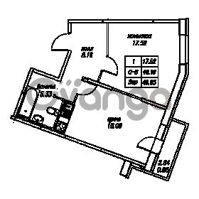 Продается квартира 1-ком 49.95 м² Юнтоловский проспект 53к 4, метро Старая деревня