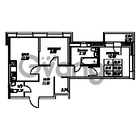 Продается квартира 2-ком 55.27 м² Юнтоловский проспект 53к 4, метро Старая деревня