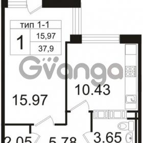 Продается квартира 1-ком 37.9 м² Заозерная улица 3А, метро Фрунзенская