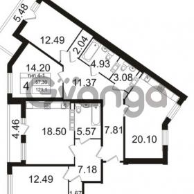 Продается квартира 3-ком 121 м² Заозерная улица 3А, метро Фрунзенская
