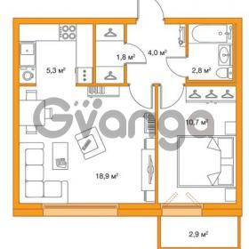 Продается квартира 1-ком 43.2 м² улица Оптиков 34, метро Старая деревня