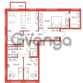 Продается квартира 3-ком 88.4 м² улица Оптиков 34, метро Старая деревня