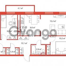 Продается квартира 3-ком 77 м² Яхтенная улица 24, метро Старая деревня