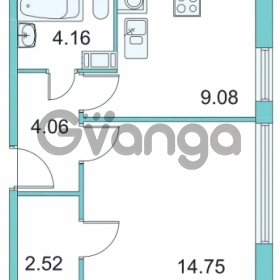 Продается квартира 1-ком 34.5 м² Центральная улица 9, метро Парнас