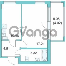 Продается квартира 1-ком 38.2 м² Центральная улица 9, метро Парнас
