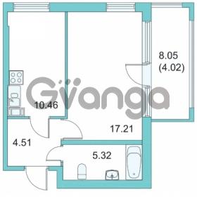 Продается квартира 1-ком 37.4 м² Центральная улица 9, метро Парнас