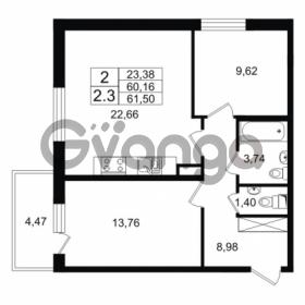 Продается квартира 2-ком 61.5 м² проспект Народного Ополчения 149, метро Проспект Ветеранов