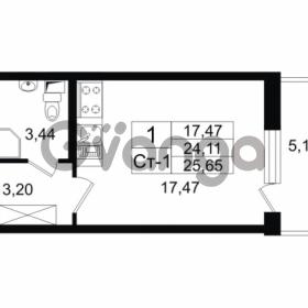 Продается квартира 1-ком 25.65 м² проспект Народного Ополчения 149, метро Проспект Ветеранов