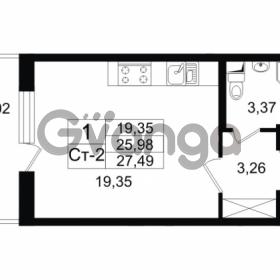 Продается квартира 1-ком 27.49 м² проспект Народного Ополчения 149, метро Проспект Ветеранов