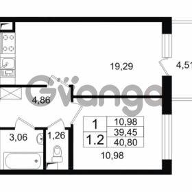 Продается квартира 1-ком 40.8 м² проспект Народного Ополчения 149, метро Проспект Ветеранов