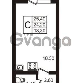 Продается квартира 1-ком 25 м² улица Освобожения 31к 1, метро Проспект Ветеранов