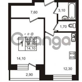 Продается квартира 1-ком 40 м² улица Освобожения 31к 1, метро Проспект Ветеранов