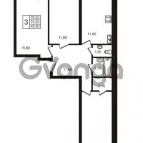 Продается квартира 3-ком 76 м² улица Освобожения 31к 1, метро Проспект Ветеранов