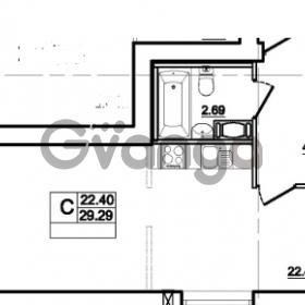 Продается квартира 1-ком 29 м² Центральная улица 83, метро Ладожская