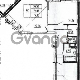 Продается квартира 2-ком 74 м² Петровский бульвар 2, метро Девяткино