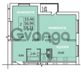 Продается квартира 2-ком 58.23 м² Голландская улица 3, метро Ладожская