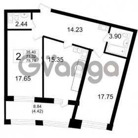 Продается квартира 2-ком 71.32 м² Ушаковская набережная 3, метро Черная речка